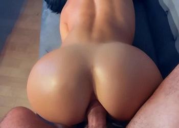 Morena con cuerpazo pierde su virginidad anal